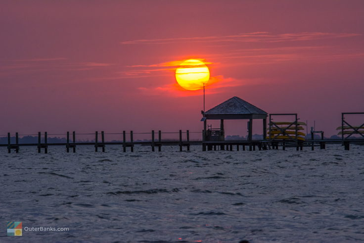 Sunset from Historic Corolla Park